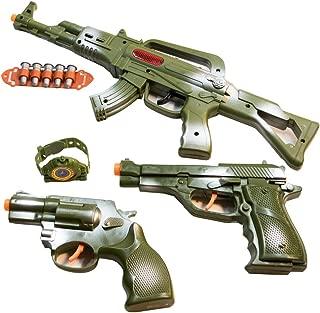 TukTek Kids First Elite Force Military Play Toy Gun Set of 5 w/ Rifle & Pistols for Boys & Girls