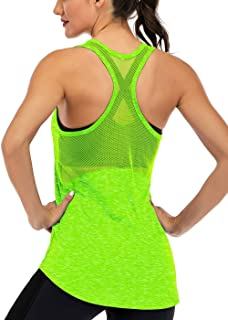 ICTIVE Workout Tank Tops for Women Sleeveless Yoga Tops for Women Mesh Racerback Tank Tops Muscle Tank