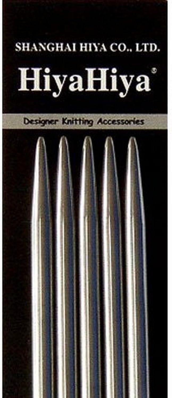 HiyaHiya Double Point 6 inch 15cm Knitting Needles San Diego Mall Sale price Steel Set