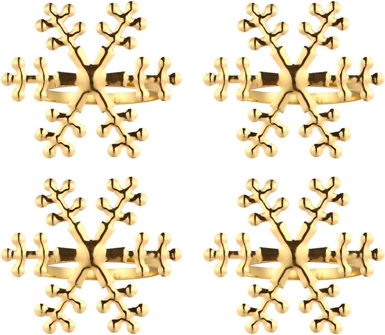 YCZOD Creative Fashion Free shipping on posting reviews 4pcs Christmas Popularity Shape Napkin Rin Snowflake