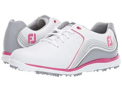 FootJoy Pro SL Spikeless (White/Grey/Fuchsia) Women