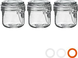 200/ml Pack de 3 Argon Tableware Juego de Botes de Cocina con Cierre herm/ético Junta Blanca Cristal