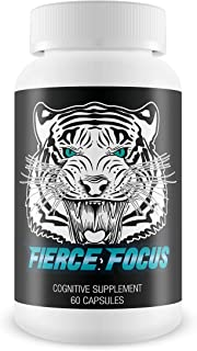 Fierce Focus- Natural Brain Function Support - Memory, Focus & Clarity Formula -Optimal Performance Natural Nootropic and ...