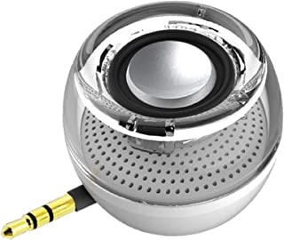Portable Speaker, Leadsound Crystal 3W 27mm 8Ω Mini Wireless Speaker with 3.5mm Aux Audio Jack Plug in Clear Bass Micro US...