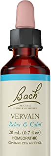 Bach Original Flower Remedy Dropper, 20 ml, Vervain Flower Essence