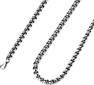 2mm-7mm 16-38In Stainless Steel Rolo Chain Necklace Crude Chain Necklace for Men Women Jewelry