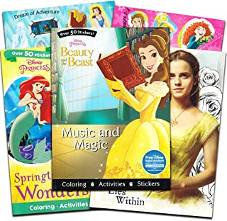 Parragon Disney Princess Beauty and the Beast Coloring and Activity Book Super Set -- 3 Deluxe Books with Over 100 Stickers (Book Collection)