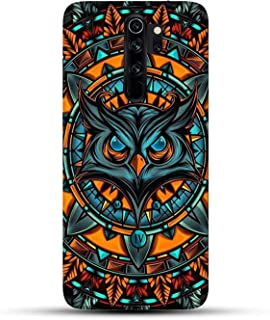 Shopezzz Bazaar Angry Owl 3D Printed Hard Mobile Back Cover Case For Redmi Note 8 Pro - Multi-Coloured