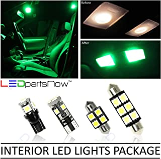 LEDpartsNow Interior LED Lights Replacement for 2003-2018 Toyota 4Runner Accessories Package Kit (16 Bulbs), GREEN