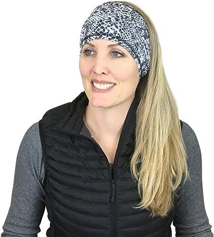 Amazon.com: Women's Multifunction Neck Gaiter | Sport Headwear, Face  Bandana, Mask, Hair Headband or Balaclava|Moisture Wicking  Fabric|Black/White Snakeskin: Clothing