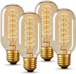 لامپ لامپ لامپ لامپ سبک T45 Vintage ، لامپ رشته ای لامپ رشته ای ، سبک ضد انعطاف پذیر DORESshop ، سفید گرم ، شیشه کهربا ، 110-130 ولت ، لامپ پایه E26 متوسط برای لامپ های منزل تزئینی ، 4 بسته