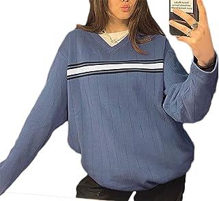 SMIMGO Y2k Moda Estética Ropa V Cuello Jersey de Punto a Cuadros Vintage Suéter Chaleco Cami Tops 90s Estética Otoño Ropa ...