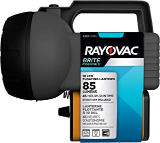 Rayovac 10 LED Lantern, Floating Camping Lantern with Battery Included - Perfect for Power Outages, Emergency Situations, Camping, Hiking, Hurricanes
