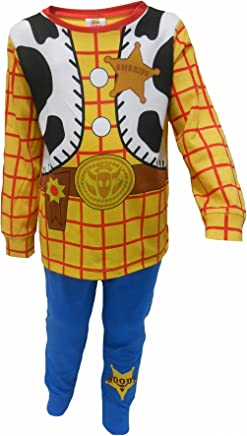 Childrens Character Boys Toy Story Buzz Woody and Hamm All in One Sleepsuit Pyjama Sublimated Fleece