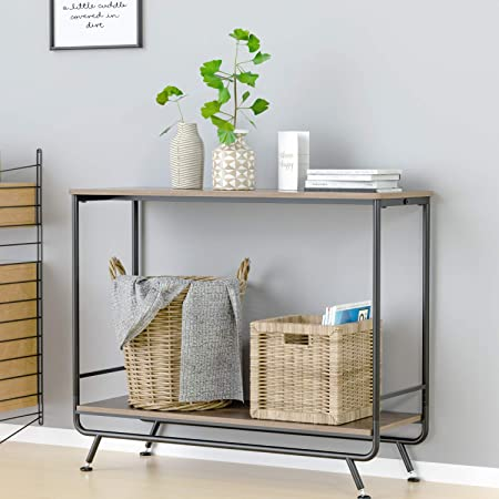 Amazon Com Homecho 39 4 Console Table Sofa Table With 2 Drawers Modern Entryway Table With Solid Bamboo Frame And Storage Shelf Narrow Foyer Table Behind Couch For Living Room Hallway Entry White Kitchen