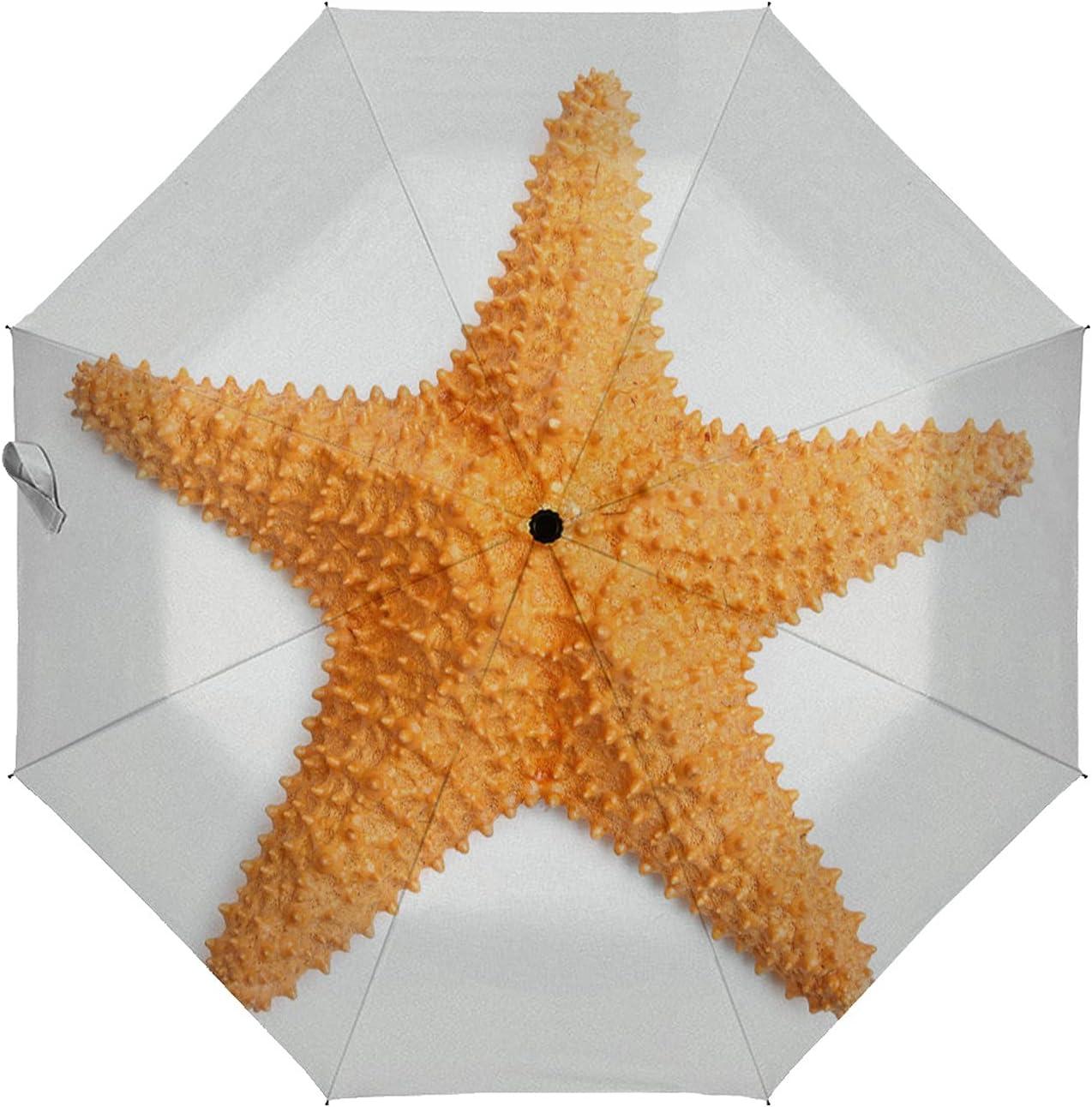 ZXZNC Golf Umbrella Orange Large special price Starfish On Compact Elegant A White Auto Open