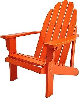 Wood & Style Patio Outdoor Garden Premium Catalina Chair, Tangerine