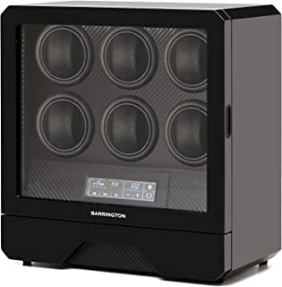 BARRINGTON Automatic Watch Winder for 6 Watches - Premium Watch Winder Box, Super Quiet Motor, AC Adapter - BARRINGTON, Th...