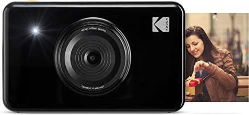 new arrival Kodak Mini shot 2 in outlet online sale 1 Wireless Instant Digital Camera and Social Media Portable Photo PRINTER, LCD Display, Premium quality Full new arrival Color prints, Compatible w/iOS and Android (Black) outlet online sale