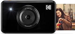 Kodak Mini Shot - Impresiones Inalámbricas de 5 X 7.6 cm con 4 Pass Tecnología de Impresión Patentada Cámara Digital de Impresión Instantánea 2 en 1 Negro Basic