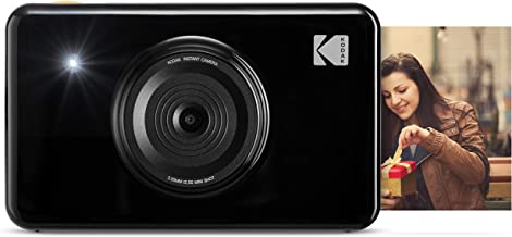Kodak Mini shot 2 in 1 Wireless Instant Digital Camera and Social Media Portable Photo PRINTER, LCD Display, Premium quality Full Color prints, Compatible w/iOS and Android (Black)
