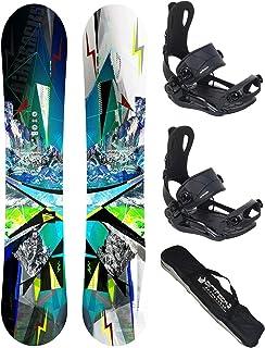 AIRTRACKS Snowboard Set (Paquete Completo) Tabla Places Wide+Fijaciones Master FASTEC+Bag/Nuevo