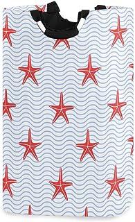 CaTaKu Panier à linge Étoile de mer Vintage Panier de rangement Étoile de mer Grande boîte de rangement Étanche Facile à t...