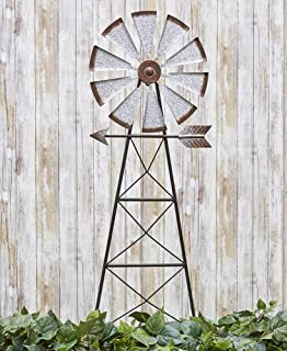 The Lakeside Collection Windmill Stake - Rustic Garden, Yard Decoration