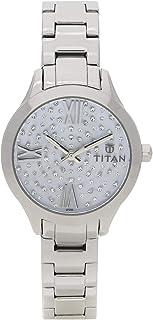 95027SM01 - Titan Ladies, 50m Water Resistant, Light Blue Dial, Stainless Steel, Silver
