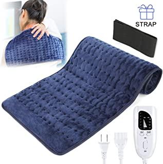 Heating Pad for Pain Relief, XL King Size Heating Pad for Cramps, Auto Off and Moist Heat Therapy with 6 Temp Settings, Heating Pads for Back Pain, Neck, Shoulders, Knee - Strap Included