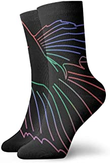 tyui7, Neon Siamese Fighting Fish Calcetines de compresión antideslizantes Betta Cosy Athletic 30cm Crew Calcetines para hombres, mujeres, niños