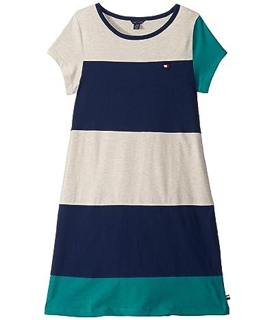 Tommy Hilfiger Kids Color Block Jersey Dress (Big Kids) (Parasailing) Girl