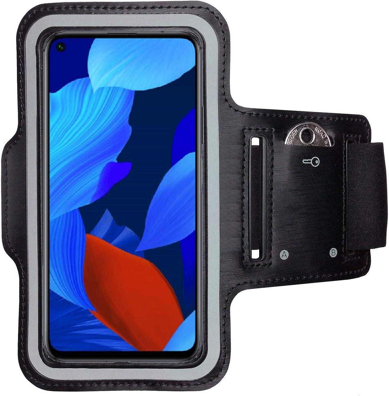CoverKingz Huawei P8 Lite Brassard Sport Noir Avec Compartiment cl/és Housse Pour le Jogging Housse Pour Portable pour faire de Sport Brassard Fitness