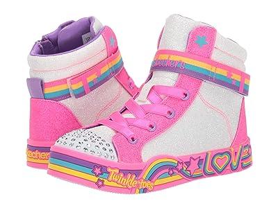 SKECHERS KIDS Twinkle Toes Twinkle Love 20276L (Little Kid/Big Kid) (White/Multi) Girl