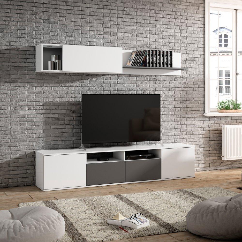 Fabri-Kit - 70530. Set modular de muebles decorativos para televisores. Color: blanco. Artículo perfecto para salones: Amazon.es: Hogar