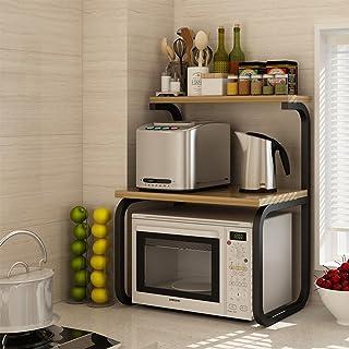 Étagères de rangement, plateaux et supports Étagère de cuisine, double four micro-ondes four rack multifonctionnel cuisine...
