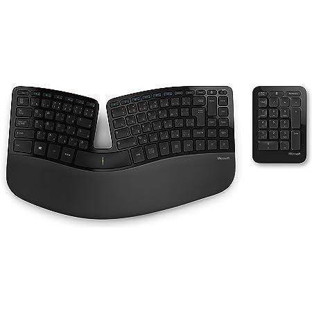 マイクロソフト キーボード ワイヤレス/人間工学デザイン Sculpt Ergonomic Keyboard for Business USB Port キーボード長さ388mmx幅208mm テンキー長さ132mmx幅92.8mm ブラック 5KV-00006