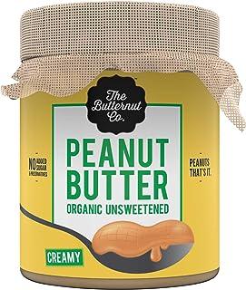 The Butternut Co. Peanut Butter Organic Unsweetened, 200 gm (No Added Sugar, Vegan, High Protein, Keto)