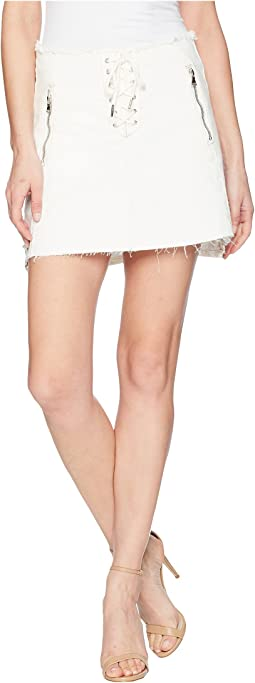 Blank NYC Lace-Up A Line Skirt in Neutral Ground