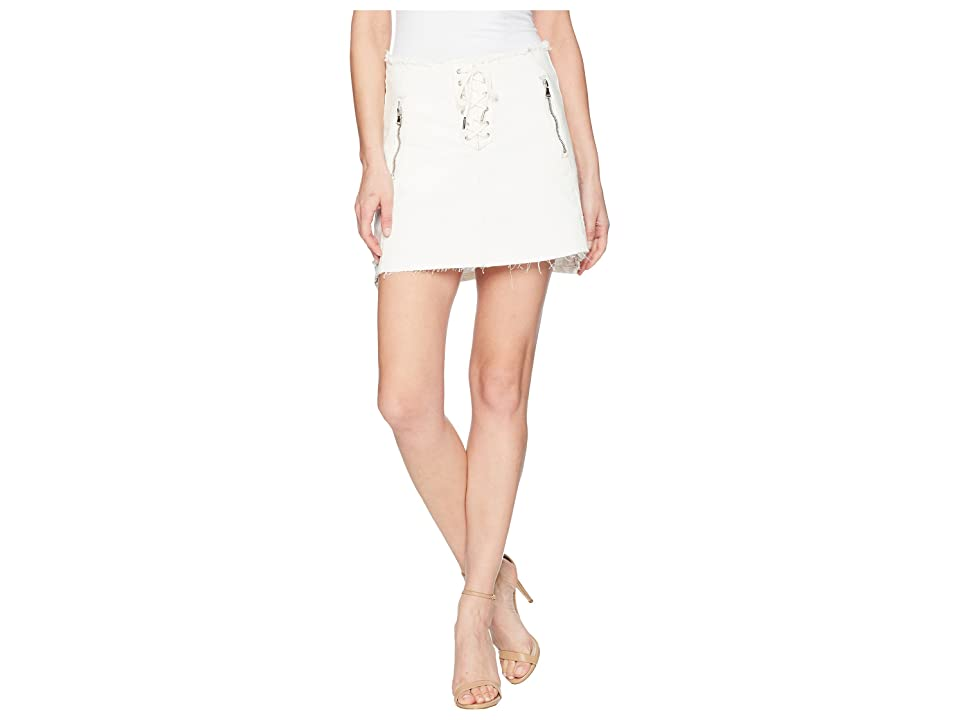 Blank NYC Lace-Up A Line Skirt in Neutral Ground (Neutral Ground) Women