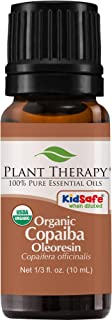Plant Therapy Essential Oils Copaiba Oleoresin Organic 100% Pure, Undiluted, Natural Aromatherapy, Therapeutic Grade 10 mL (1/3 oz)