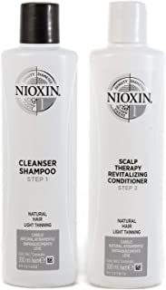 Nioxin System 1 Duo Pack, Cleanser 300ml and Scalp Therapy Revitalising Conditioner 300ml