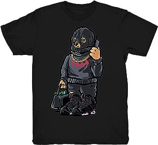 Infrared 6 Trap Bear Shirt to Match Jordan 6 Infrared Sneakers Black t-Shirts