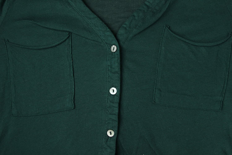 Big Star Women's Dark Green Long Sleeve Button Down Blouse