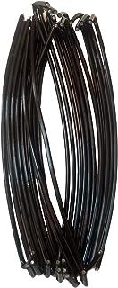 """BestPro 6-1/2"""" (30 Pack) Chain Link Fence Wire Ties 9 Ga Fence Hooks Ties Black Tie Wires with Steel Core - Anti Rust"""