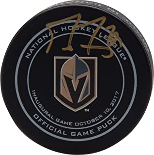Marc-Andre Fleury Vegas Golden Knights Autographed October 10, 2017 Inaugural Opening Night Official Game Puck - Fanatics Authentic Certified