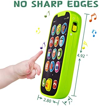 HISTOYE Baby Toys Phone for 1 + Year Old , Sing and Count Toy Cell Phone for Toddlers, Role Play Baby Phone for Early...