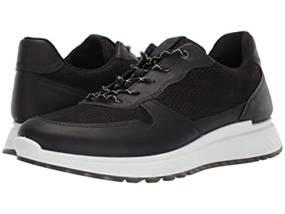 ECCO ST1 Perforated Sneaker (Black/Black) Men