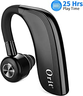 Auricular inalámbrico Bluetooth, Manos Libres Bluetooth Auricular Soporte para 25 Horas de Tiempo de conversación Auricular con Mic HD Incorporado, reducción de Ruido en el oído: Llamadas de Negocios