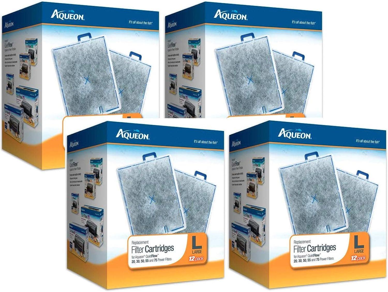 Aqueon 48Pack Filter Cartridges for Aquarium, Large